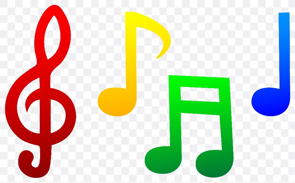 colorful music symbols