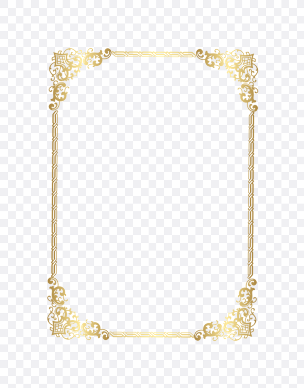 gold borders