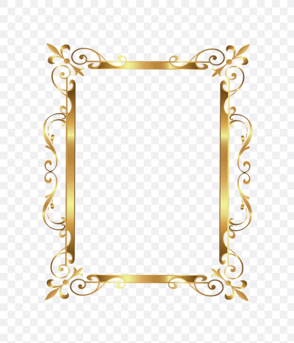 gold wedding border