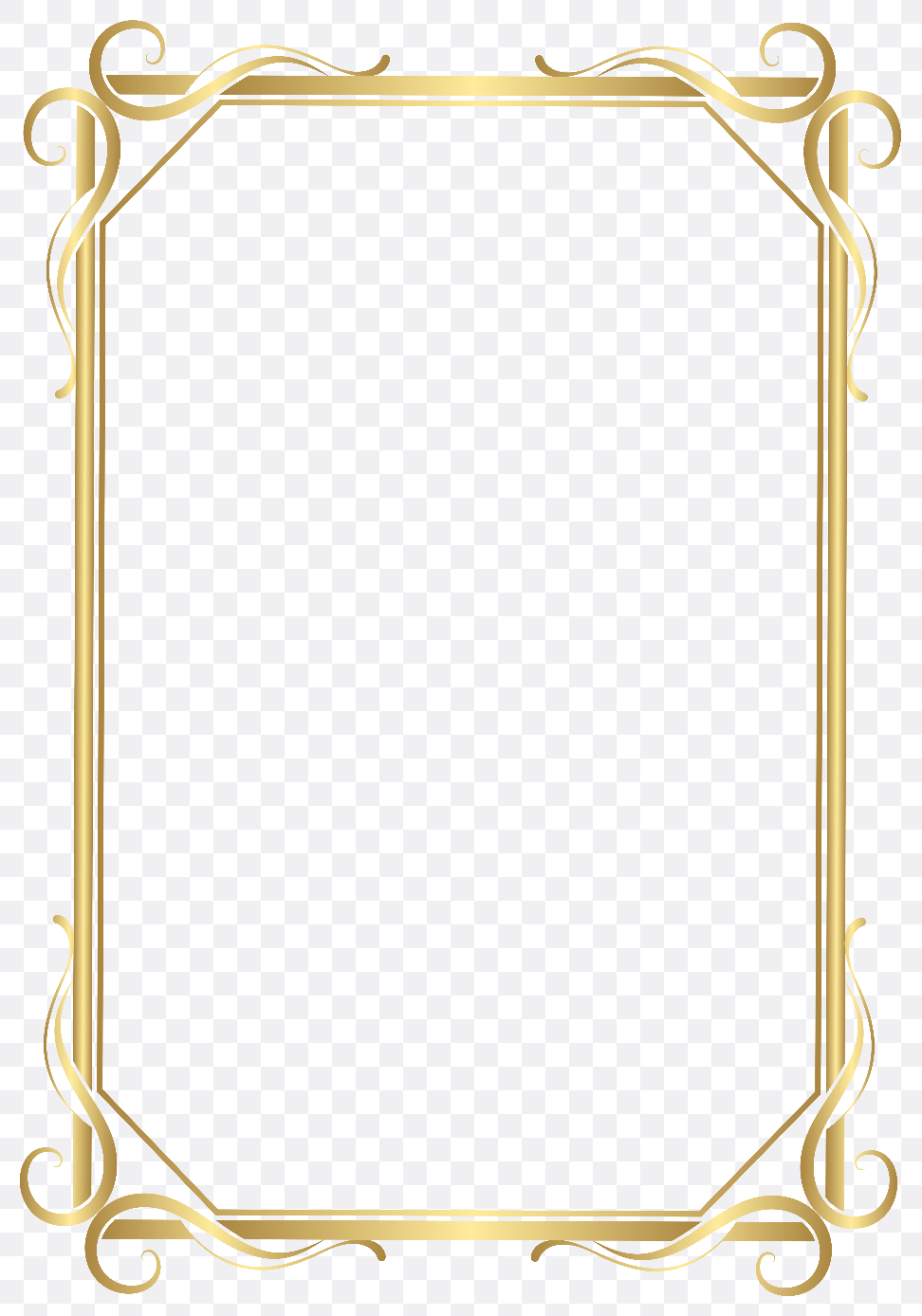 golden frame design